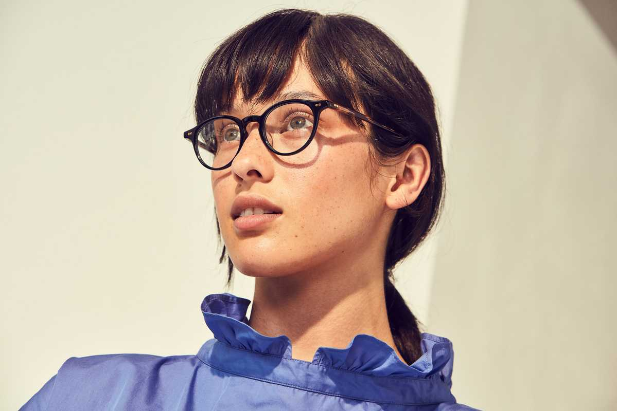 Blouse by Atlantique Ascoli, glasses by Kaneko Optical