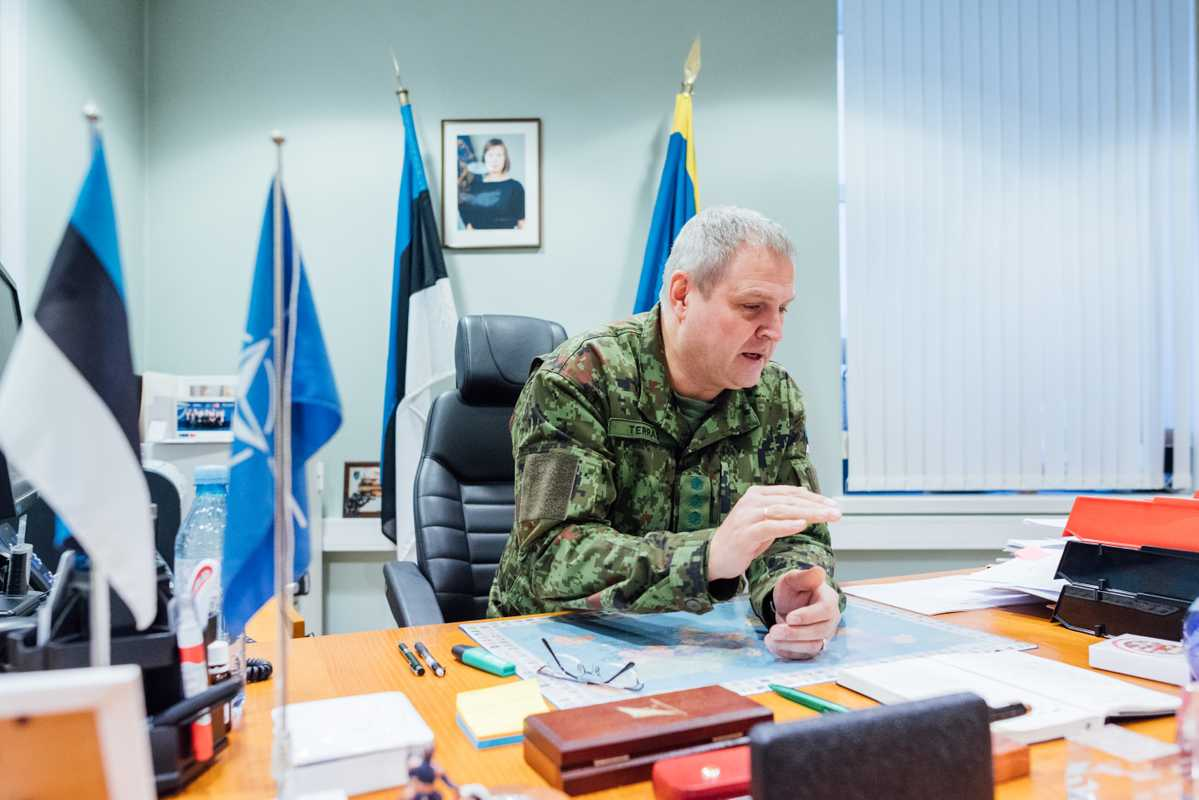 Riho Terras, commander of the Estonian Defence Forces