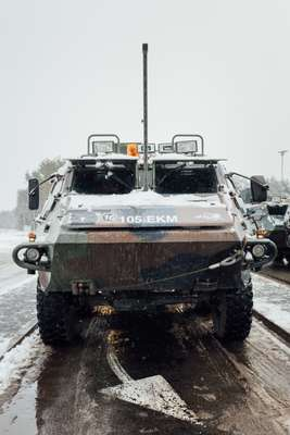 Army vehicle just outside Ämari airbase