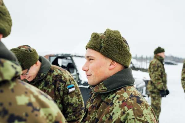 Estonian soldiers at Tapa army base