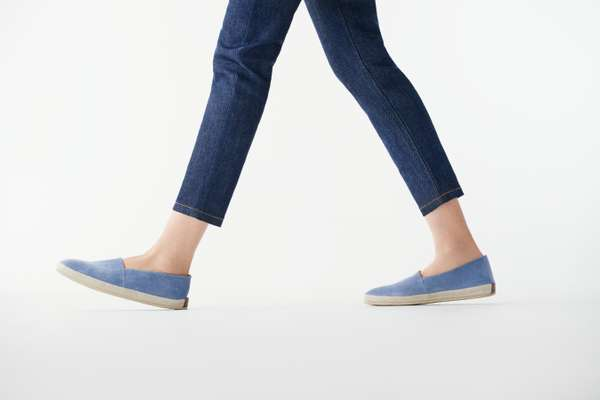 Jeans by APC, slip-ons by Ludwig Reiter
