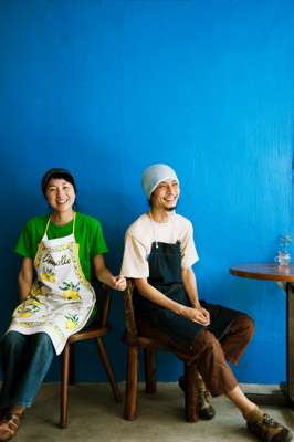 Nobuhiro (right) and Yuko Kuwabara from Café Niceness