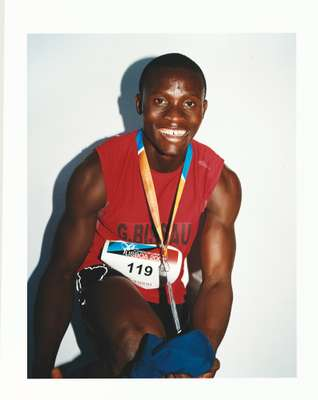 Member of the Guinea Bissau 4 x 100m sprint team
