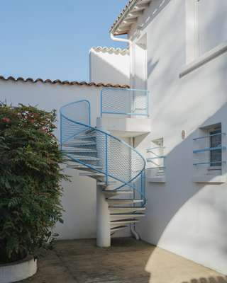 Spiral staircases are a common feature in Royan
