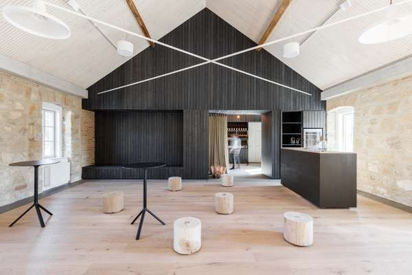 Refitted farmhouse that is now an events space