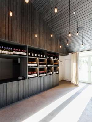 Bar in the redesigned farmhouse