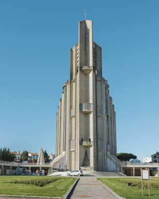 Église Notre-Dame, the  town's only example of brutalism