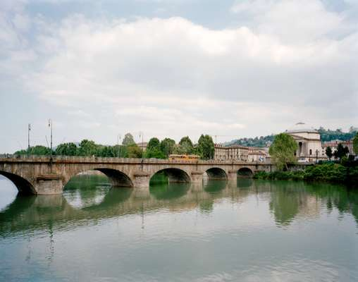 Vittorio Emanuele bridge over the river Po