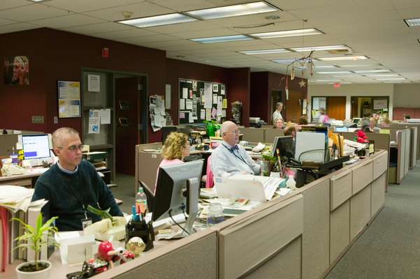 Newsroom at the 'Free Lance-Star'