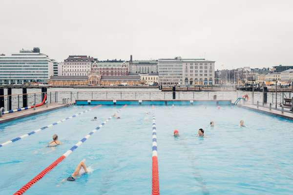 Winter laps at Allas Sea Pool in Helsinki