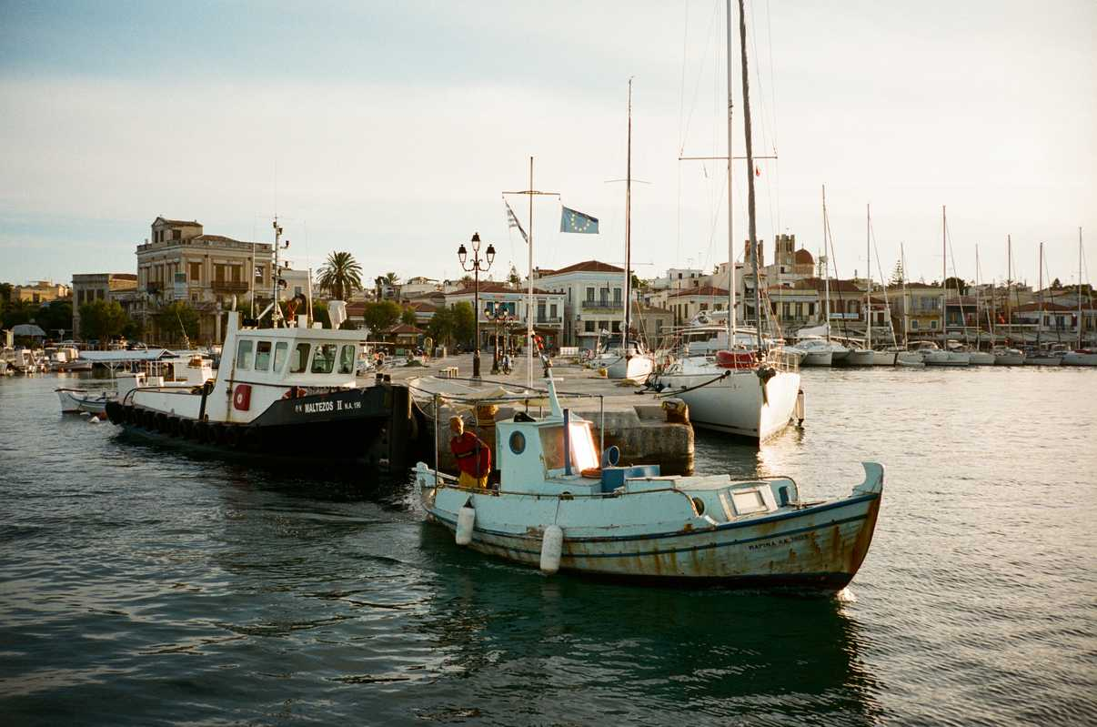 Fishermen's boats sailing out of the main harbour