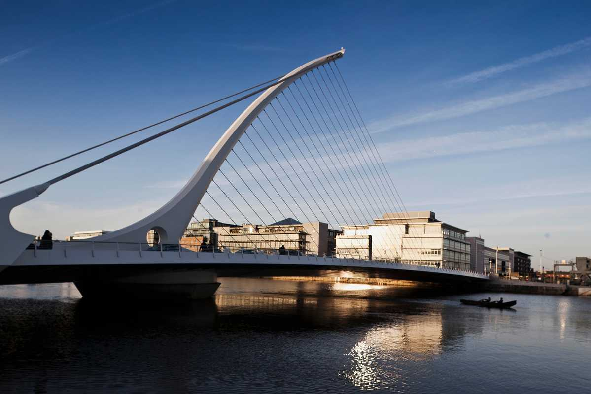 Samuel Beckett Bridge, designed by Santiago Calatrava