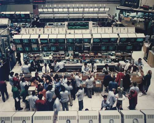 Photograph of the New York Stock exchange by Andreas Gursky for the Frieze festival.