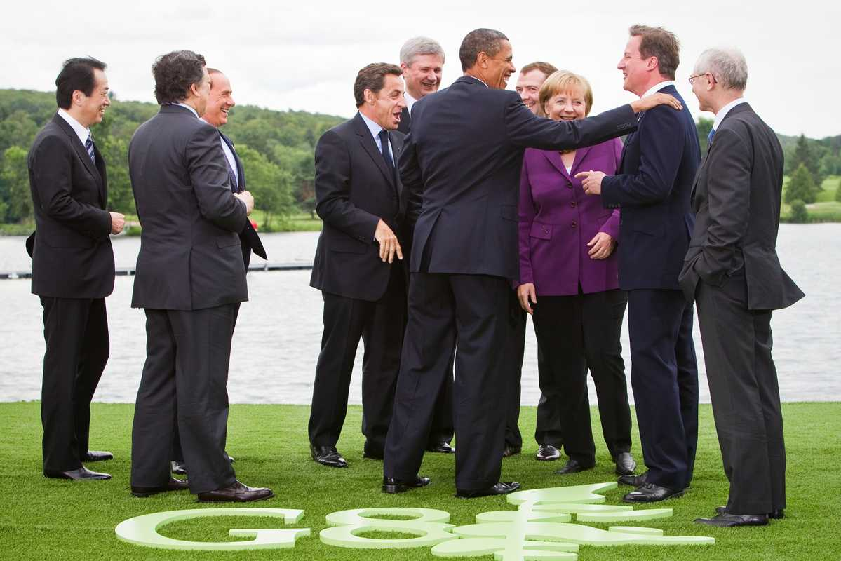 Leaders from the 2010 G8 summit gather in Huntsville Ontario