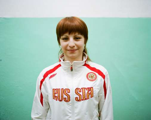Natalya, a wushu (Chinese martial arts) champion and coach, Blagoveshchensk
