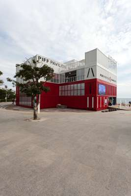 The PIFF Pavilion was fashioned from a shipping container, apt for Busan's status as one of the world's largest ports