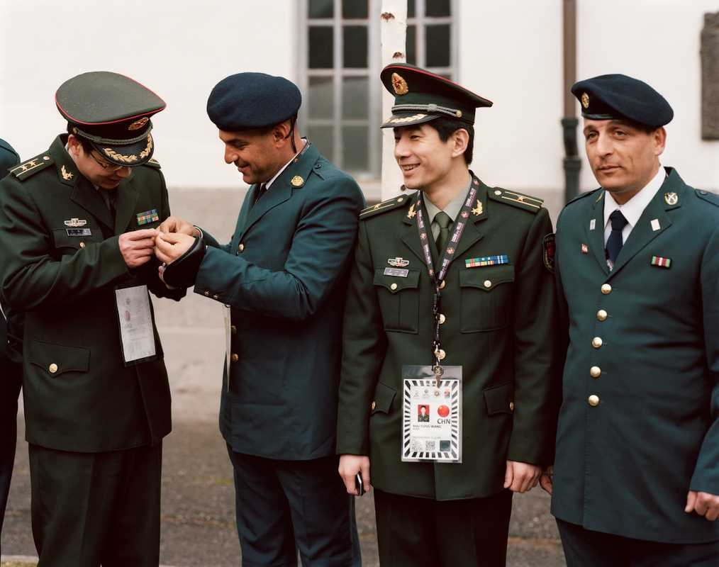 Senior Chinese and Lebanese officers