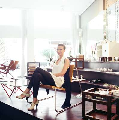 Belo Horizonte-based architect Manoela Beneti at her design store, Grampo