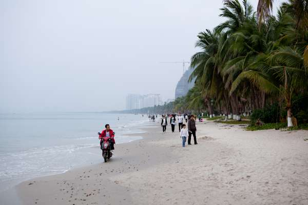 The beach in Sanya Bay