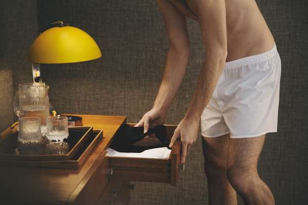 Boxer shorts by Sunspel, socks (in the drawer) by Tabio