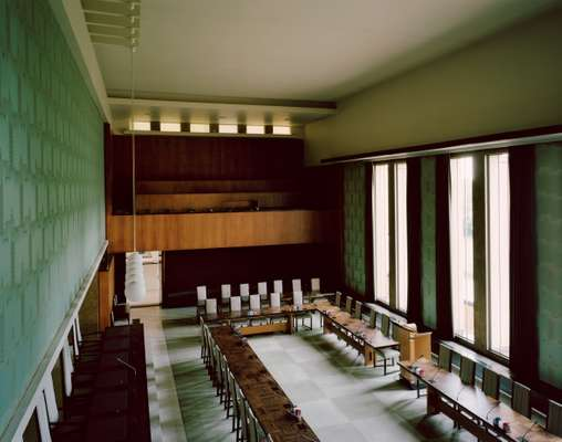 The council chamber at Hilversum's Dudok-designed town hall