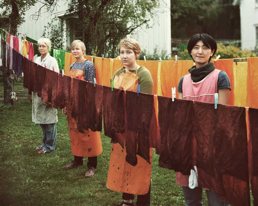 Textile pupils at Capellagården