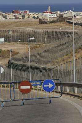 Melilla's six metre-high, 11km-long border fence