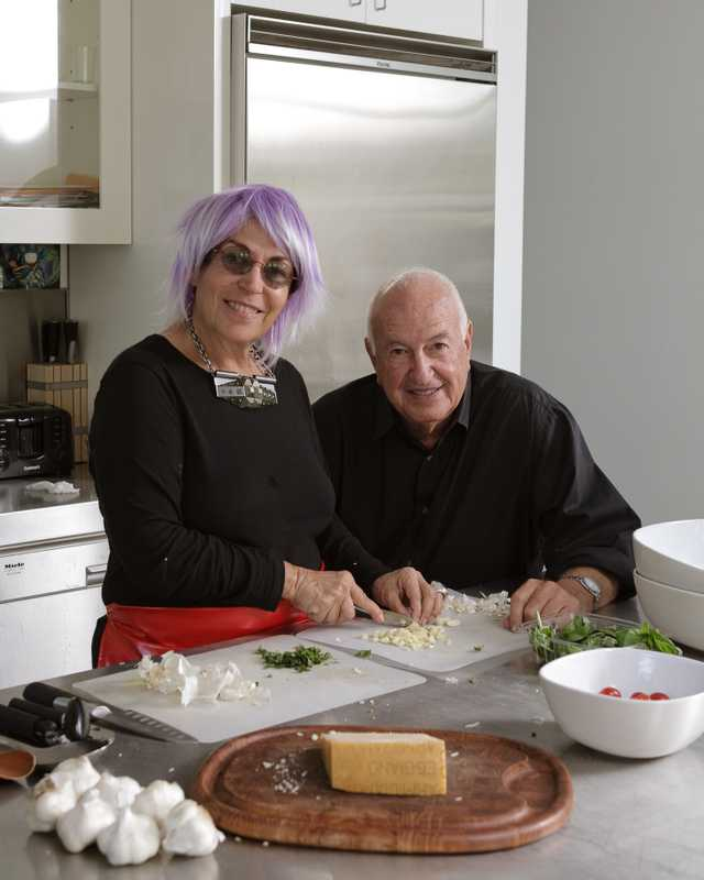 Mera and Don Rubell in their kitchen