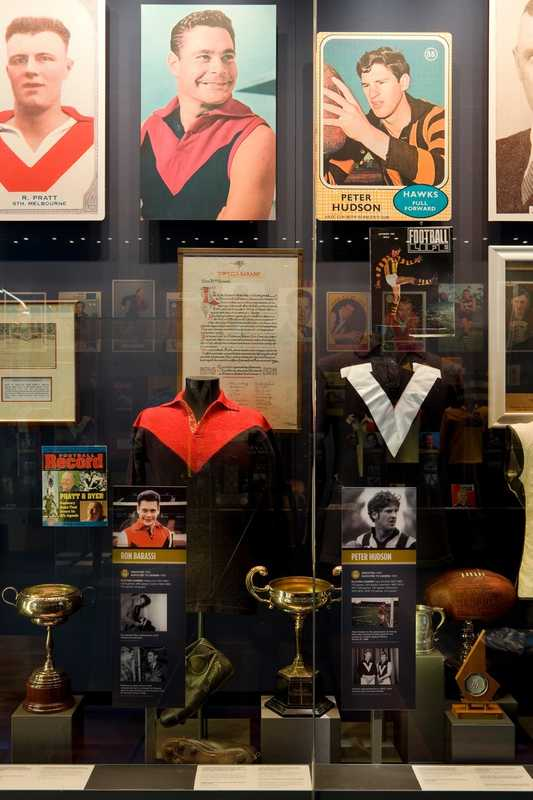 Memorabilia at the National Sports Museum at the MCG