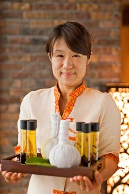Ryoko Ado, from the hotel's Asian Herb Association spa