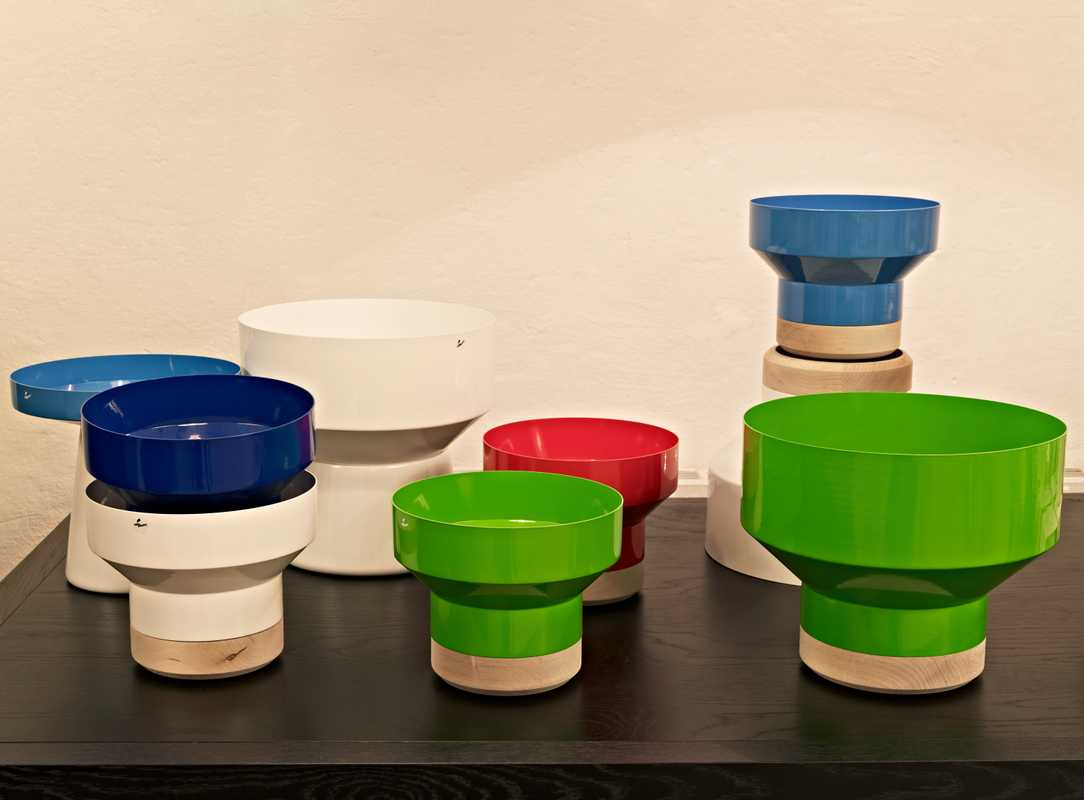 Bowls and vases by Hello Industry, designed by Jonas Wagell