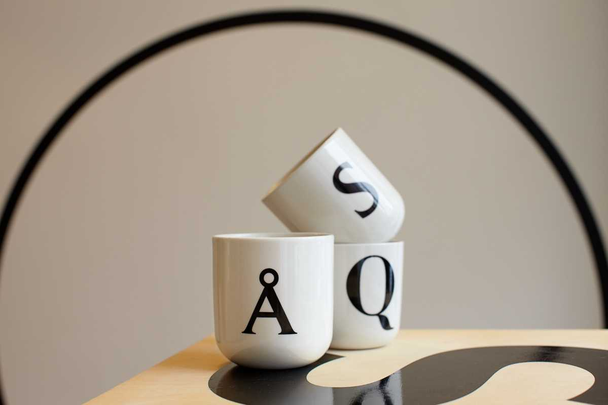 Mugs designed by e-Types for its pop-up shop, Playtype