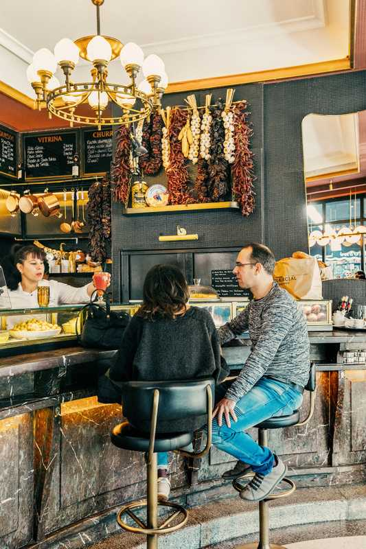 Café Comercial's marble bar is a magnet for friendly catch-ups