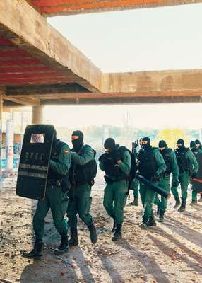 Agents during a training exercise