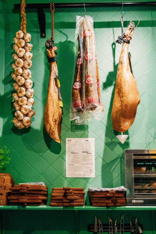 La Colmada is stacked with Spanish meat