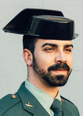 Guardia Civil agent sporting traditional garb