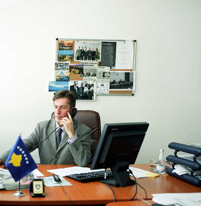 Lulzim Mjeku at the Ministry of Foreign Affairs (see box on Kosovo embassies)