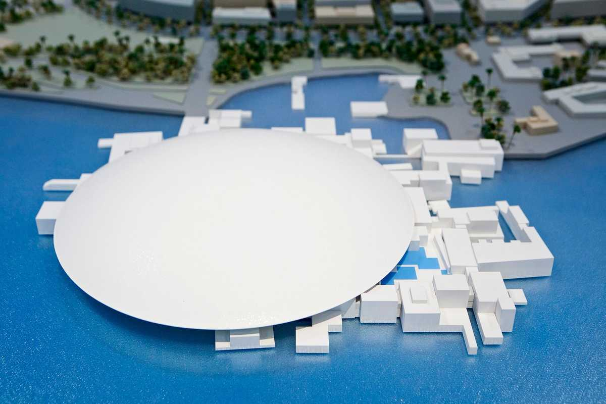 Model for Jean Nouvel's Louvre