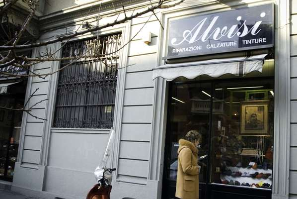Alvisi's shop in Milan