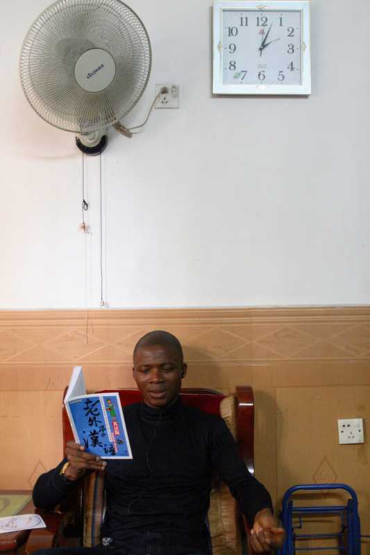 Theophile Whouinsou, from Benin, teaches himself Chinese