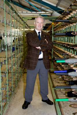 Rae Mackenzie, sales director of Harris Tweed Hebrides' mill at Shawbost