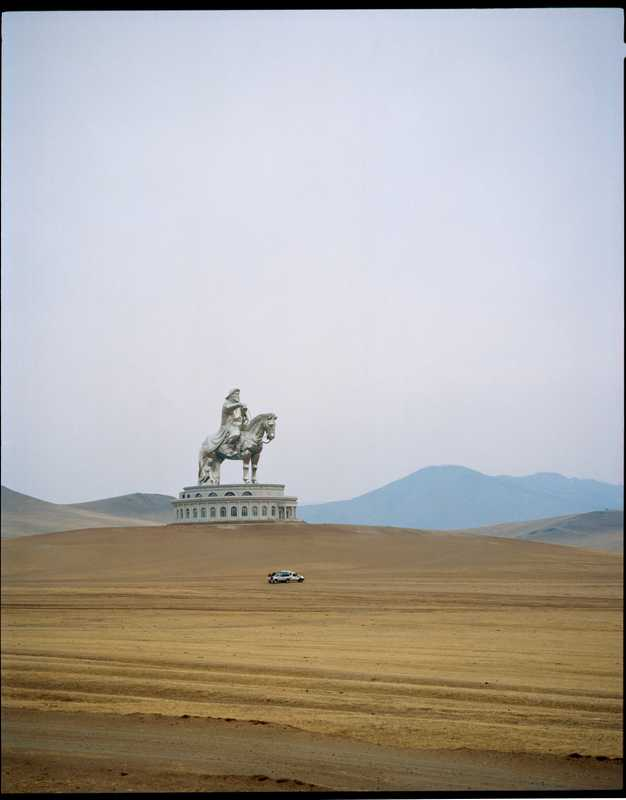 Mongolia's answer to the Statue of Liberty: a 40m-high steel statue of Genghis Khan astride a horse, 50km east of Ulan Bator