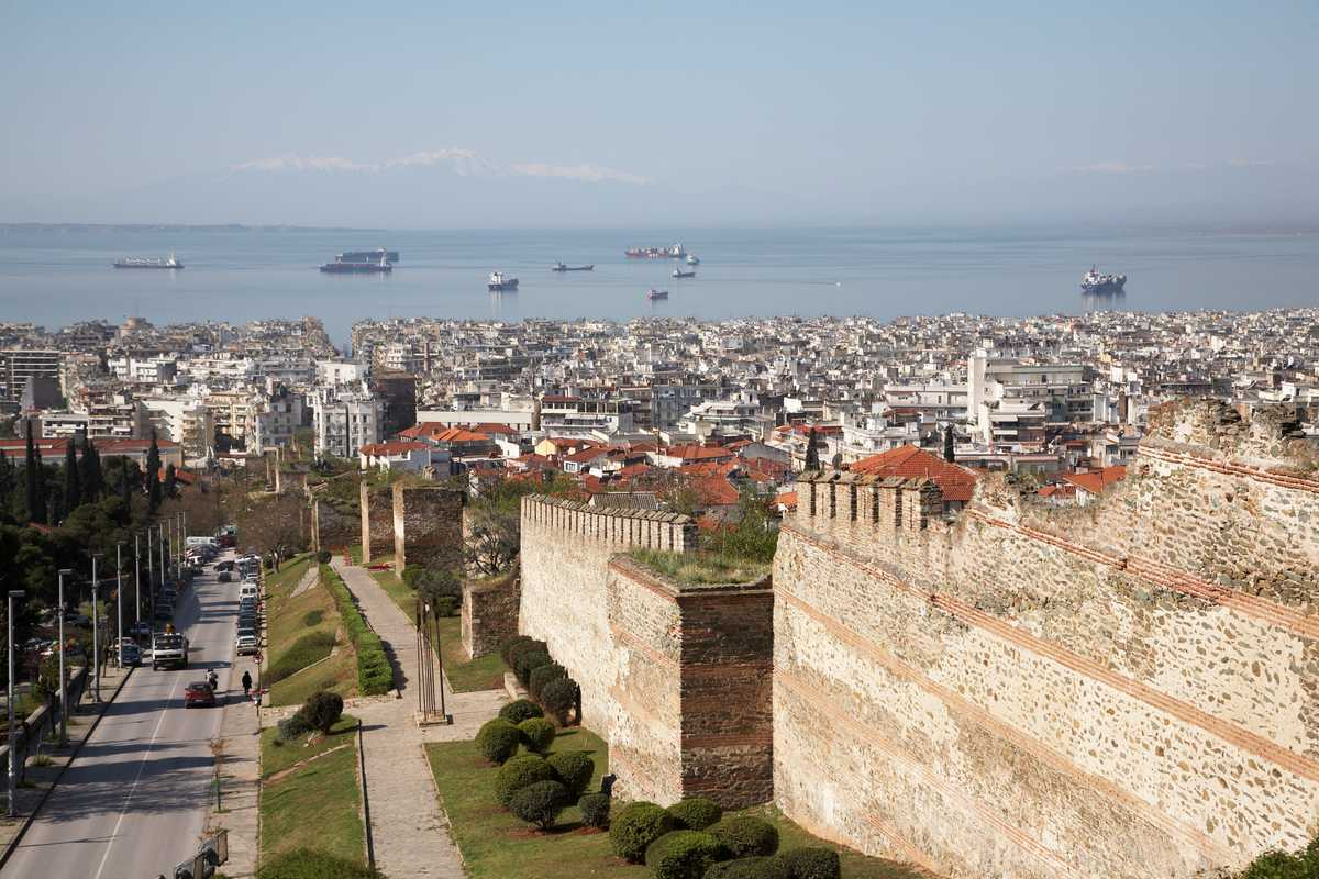 View over Thessaloniki from Ano Poli above the city