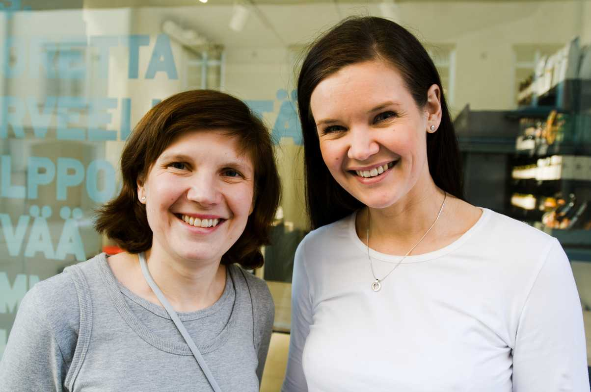 Founders Kaisa Leikola, 39 (left), and Anu Syrmä, 36 (right)