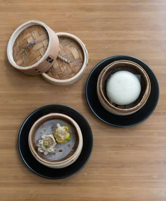 Dim Sum at Cathay Pacific Lounge, Hong Kong