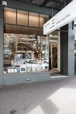 Outside the TITLE store in Surry Hills, Sydney