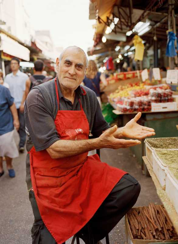 Friendly old man at Carmel food market