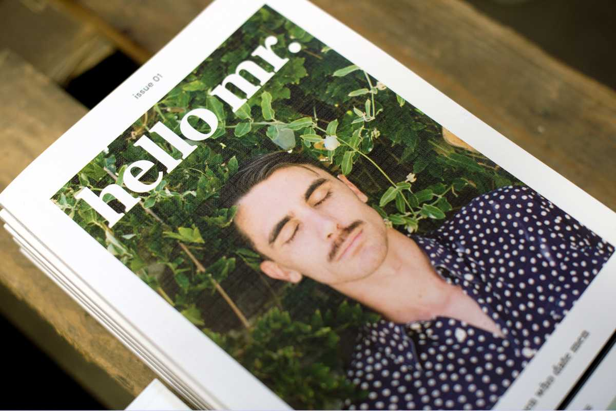 Inaugural issue of 'Hello Mr' magazine