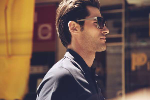 Sunglasses by Lindberg, polo shirt by Sunspel