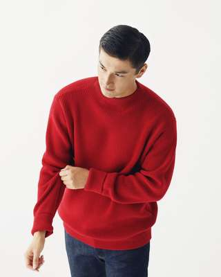 Jumper by Andersen-Andersen from Steven Alan, jeans  by Sunspel